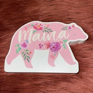 Mother's Day Mama Bear household decoration!